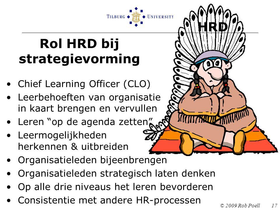 Rol HRD bij strategievorming