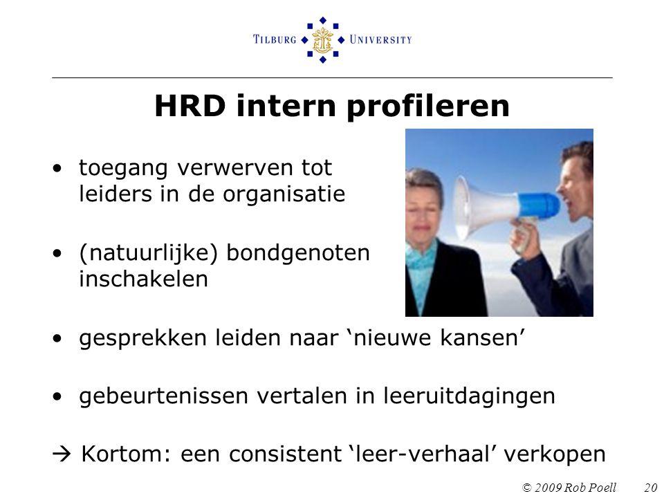 HRD intern profileren toegang verwerven tot leiders in de organisatie