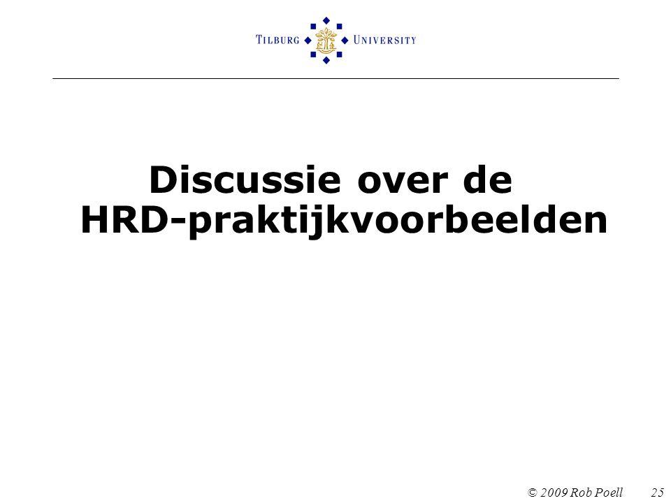 Discussie over de HRD-praktijkvoorbeelden