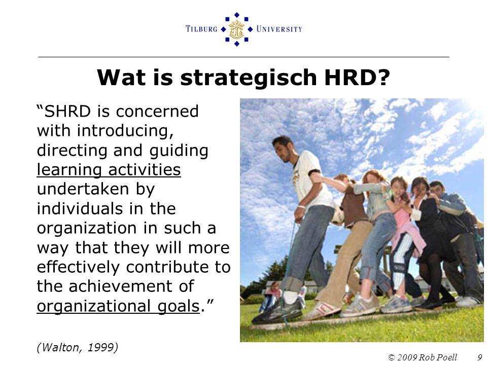 Wat is strategisch HRD