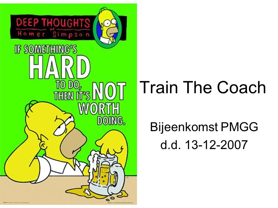 Train The Coach Bijeenkomst PMGG d.d