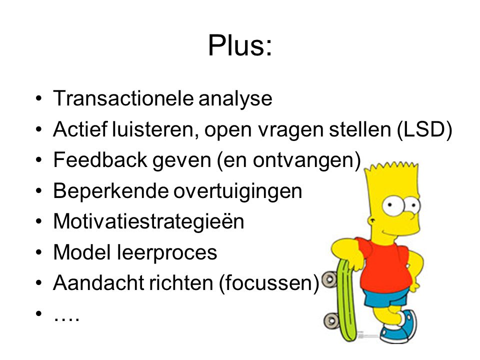 Plus: Transactionele analyse