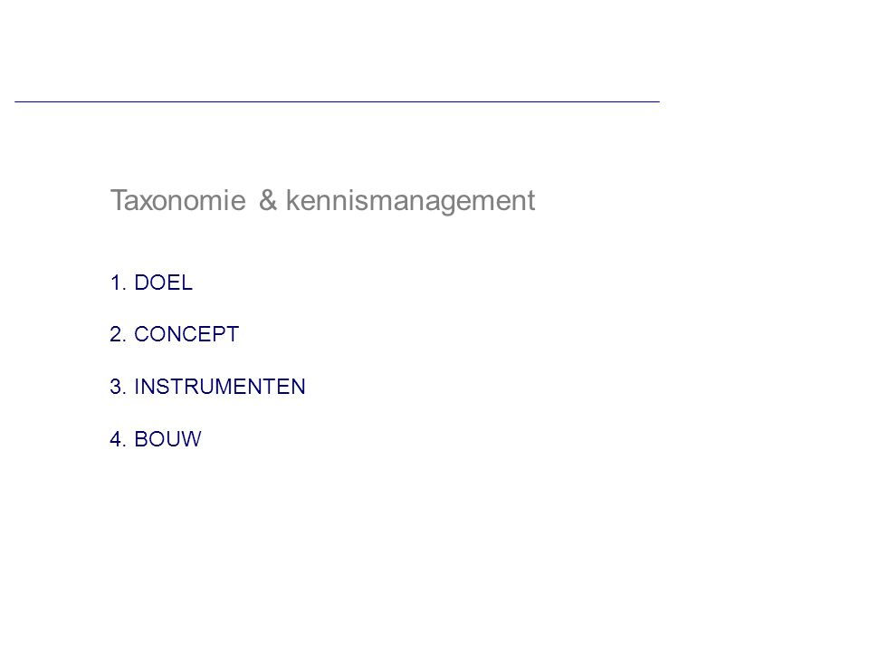 Taxonomie & kennismanagement