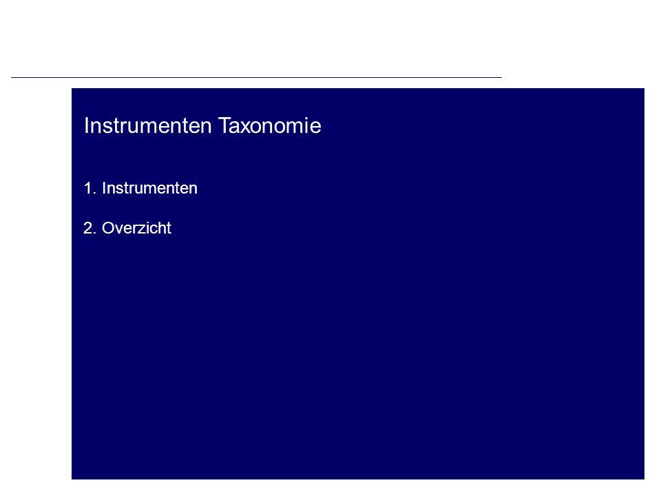 Instrumenten Taxonomie