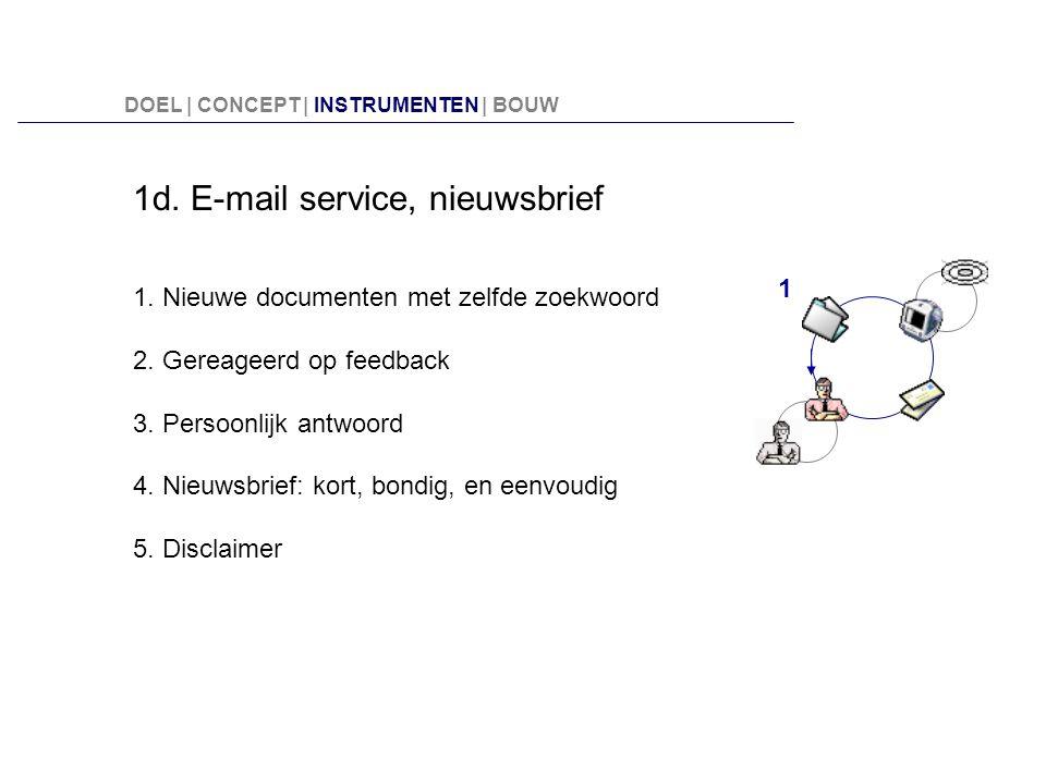 1d. E-mail service, nieuwsbrief