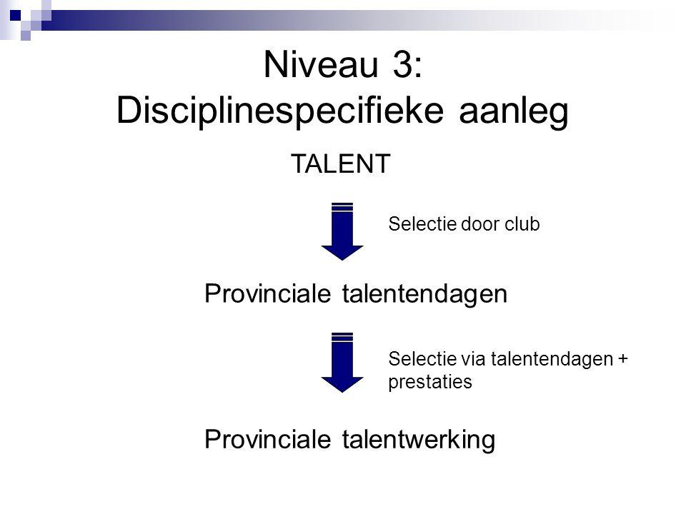 Niveau 3: Disciplinespecifieke aanleg