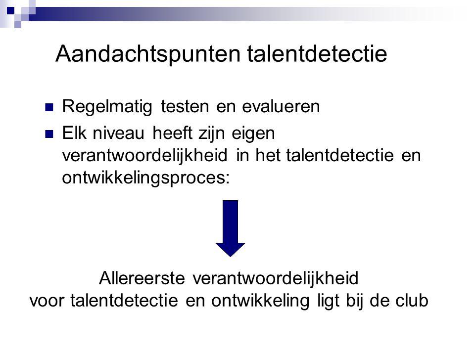 Aandachtspunten talentdetectie