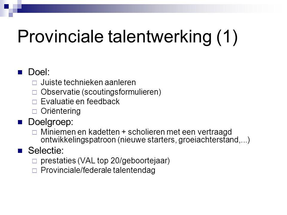 Provinciale talentwerking (1)