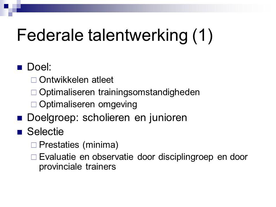 Federale talentwerking (1)