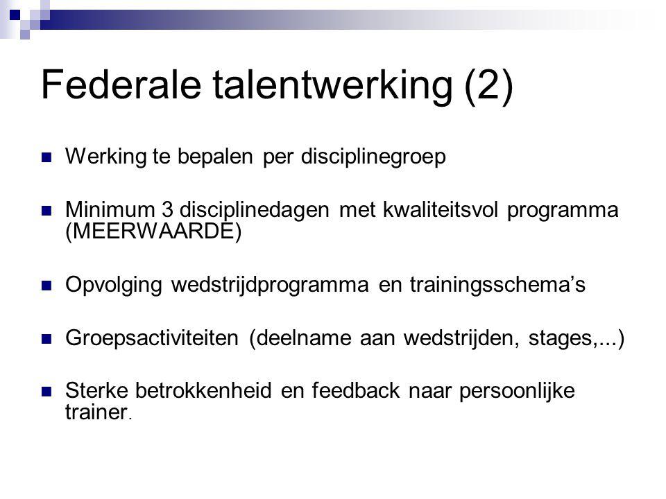 Federale talentwerking (2)