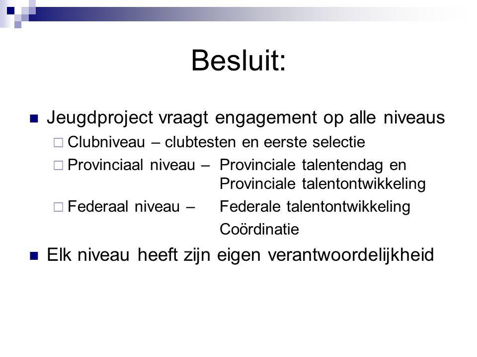 Besluit: Jeugdproject vraagt engagement op alle niveaus