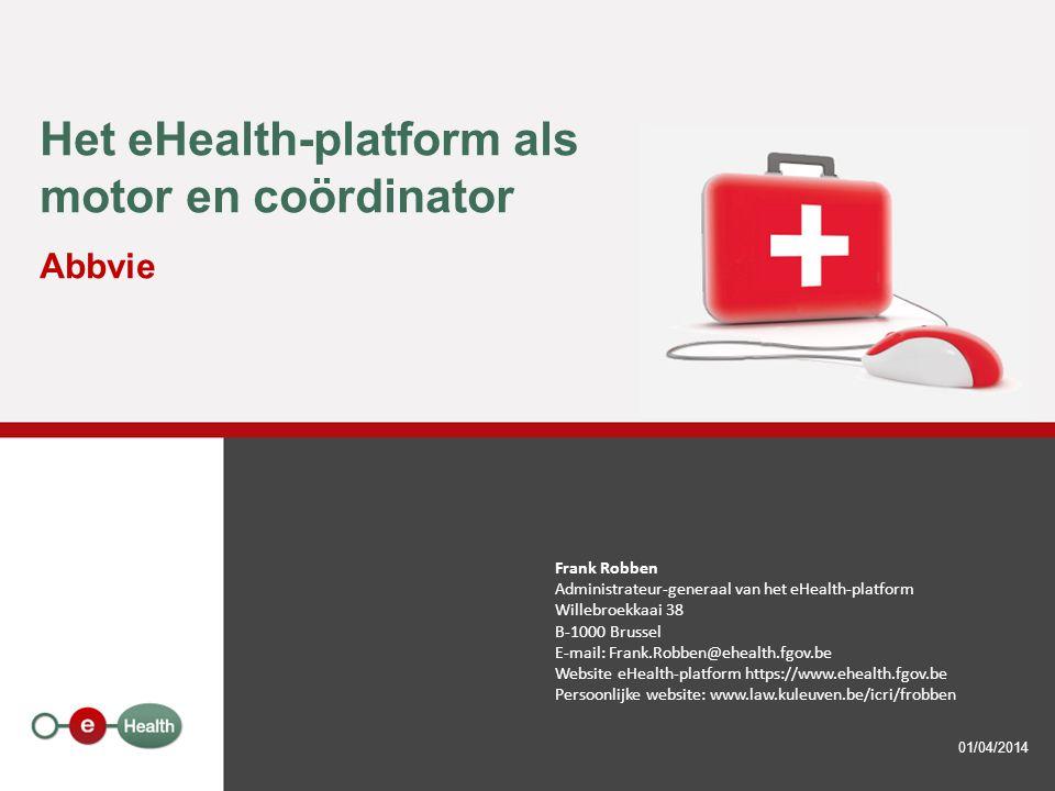 Het eHealth-platform als motor en coördinator Abbvie