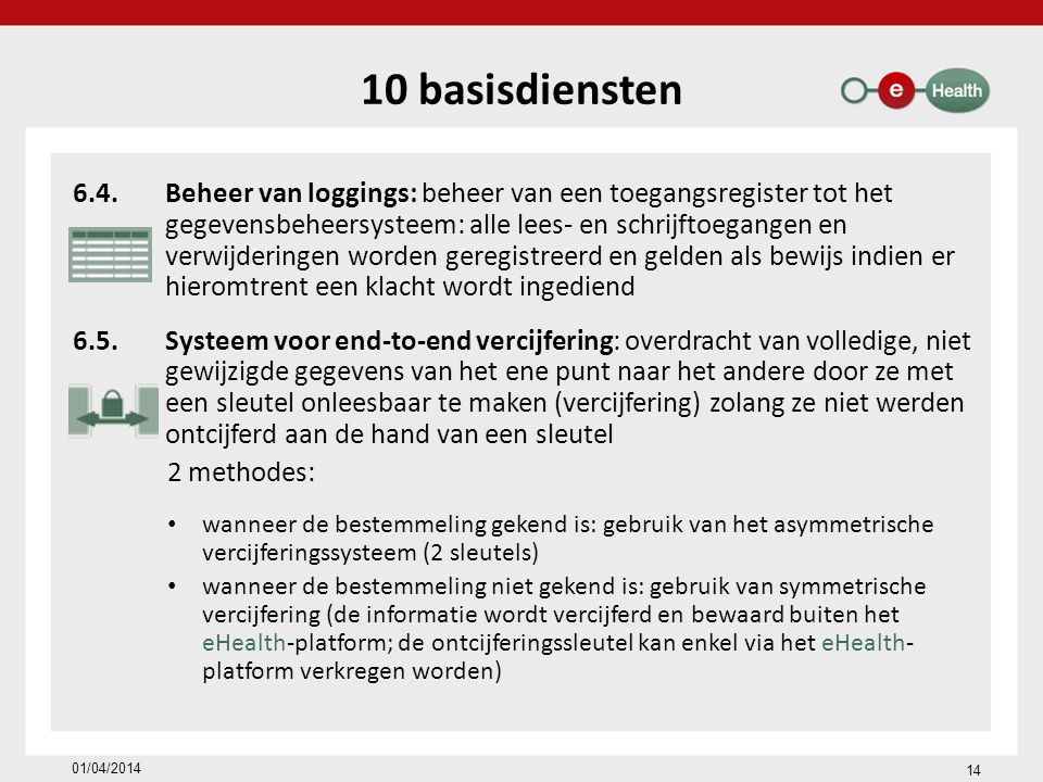 10 basisdiensten