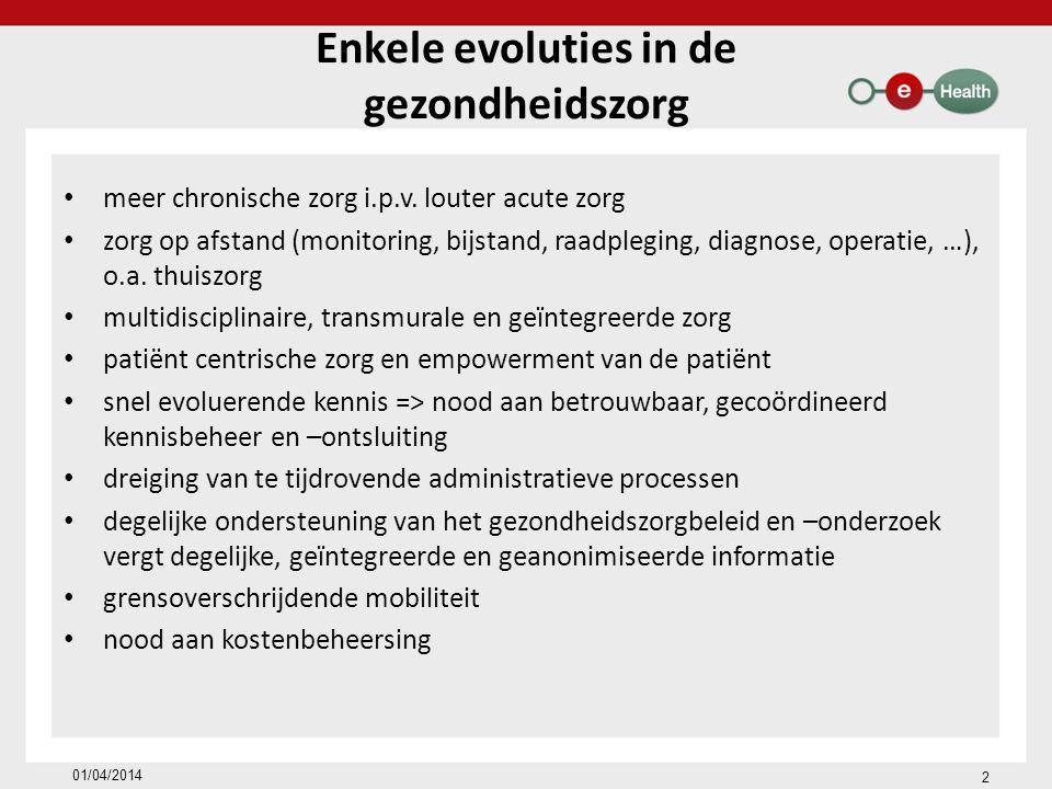 Enkele evoluties in de gezondheidszorg