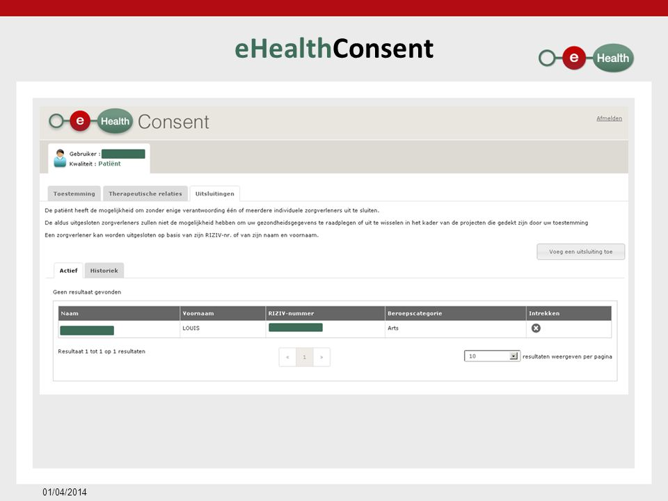 eHealthConsent 01/04/2014