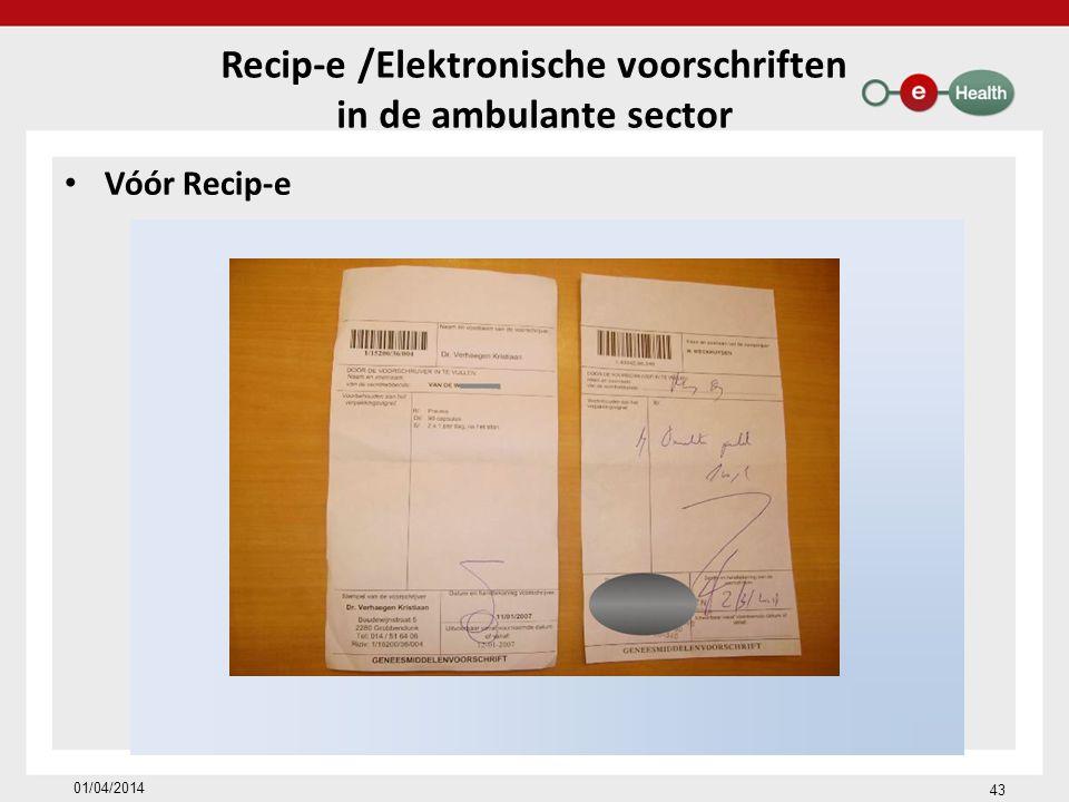 Recip-e /Elektronische voorschriften