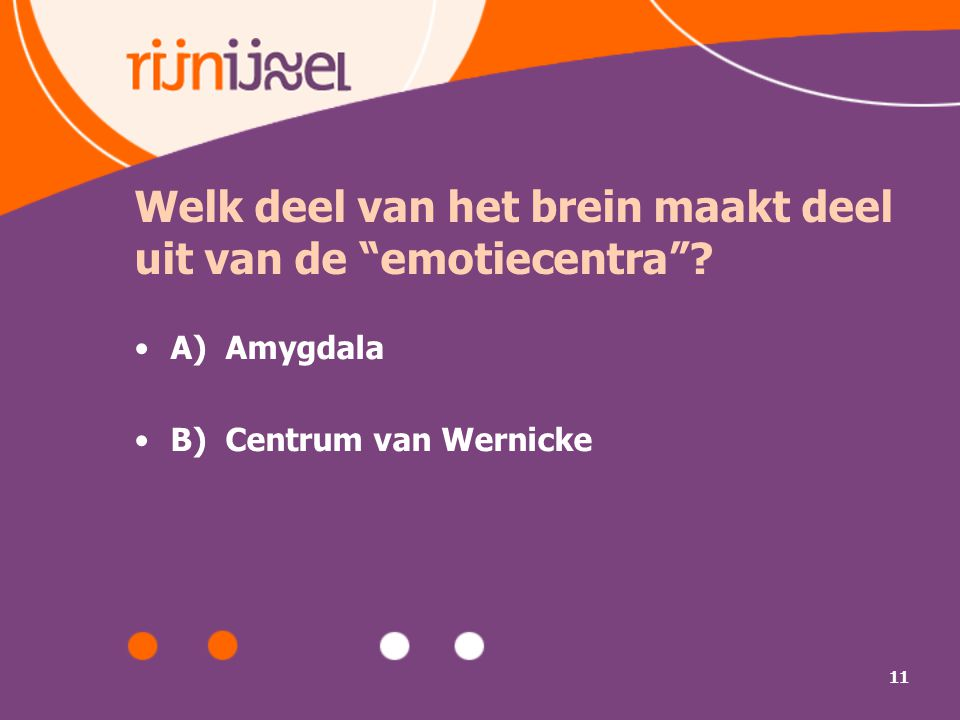 Welk deel van het brein maakt deel uit van de emotiecentra