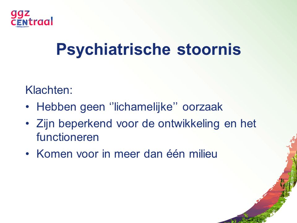 Psychiatrische stoornis