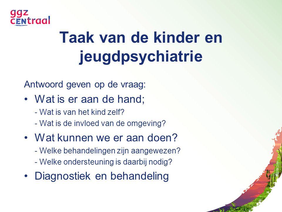 Taak van de kinder en jeugdpsychiatrie