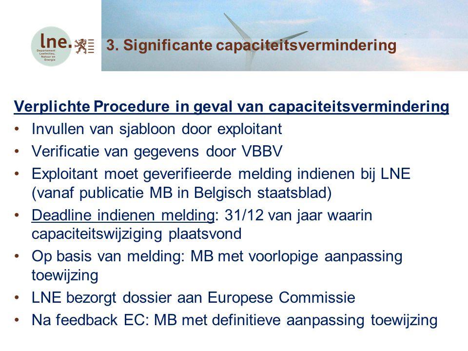 3. Significante capaciteitsvermindering