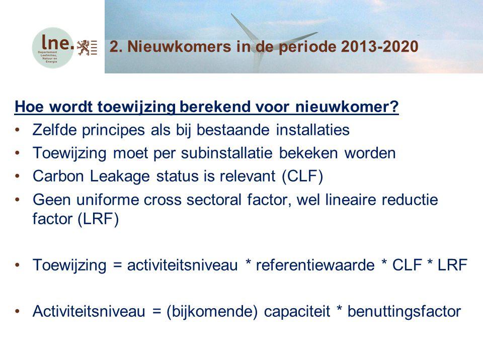 2. Nieuwkomers in de periode 2013-2020