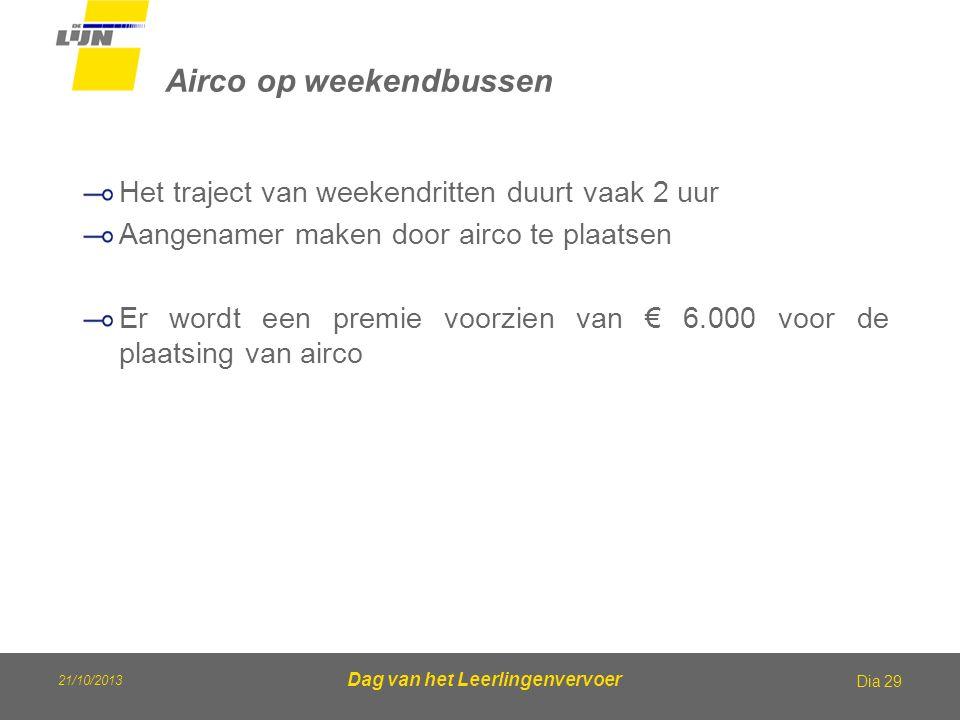 Airco op weekendbussen