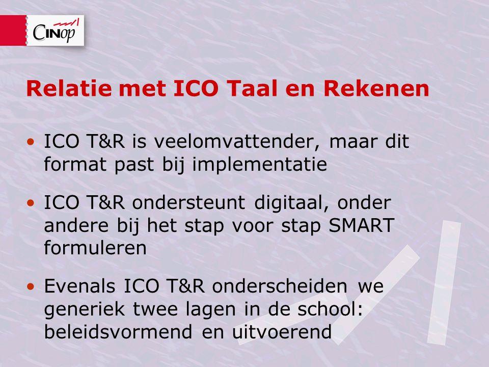 Relatie met ICO Taal en Rekenen