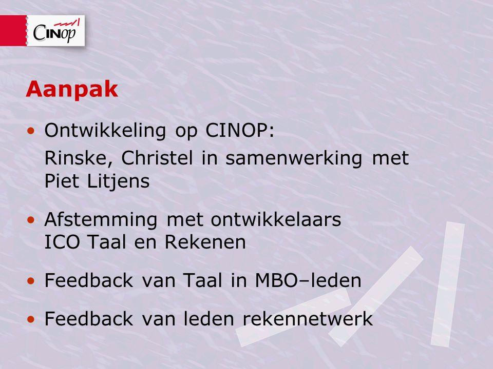 Aanpak Ontwikkeling op CINOP:
