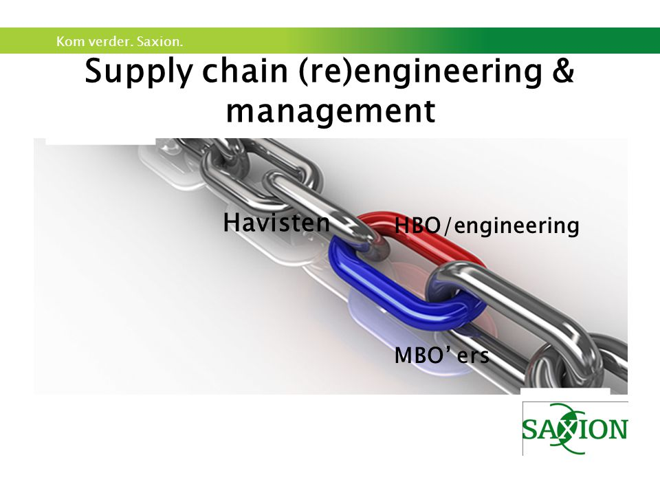 Supply chain (re)engineering & management