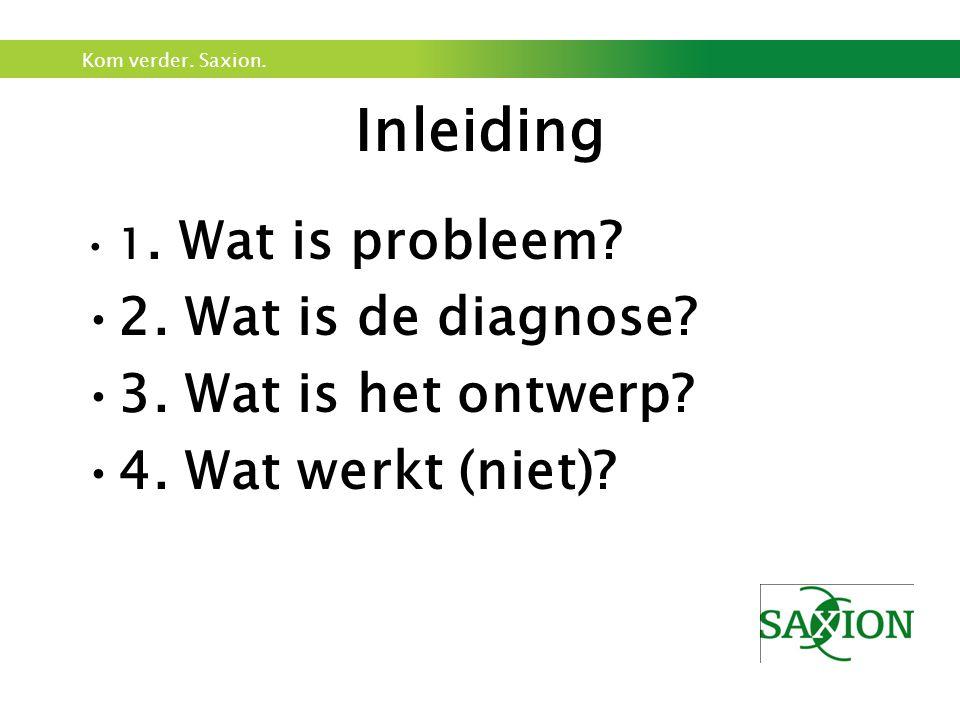 Inleiding 2. Wat is de diagnose 3. Wat is het ontwerp