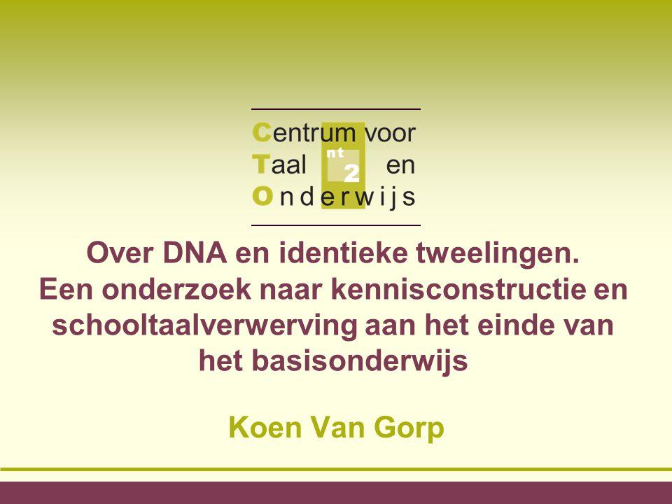 Over DNA en identieke tweelingen