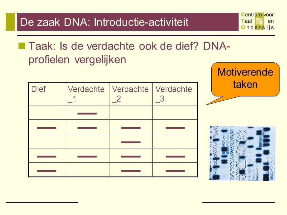 De zaak DNA: Introductie-activiteit