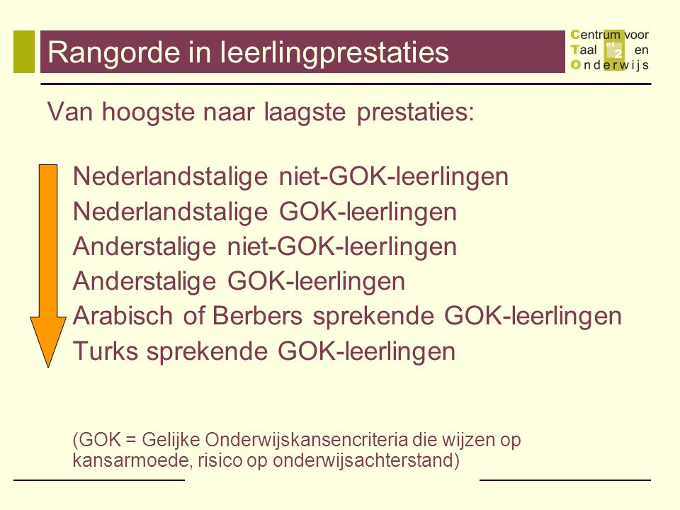 Rangorde in leerlingprestaties