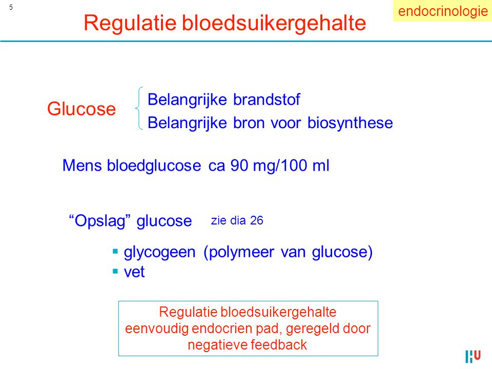 Regulatie bloedsuikergehalte