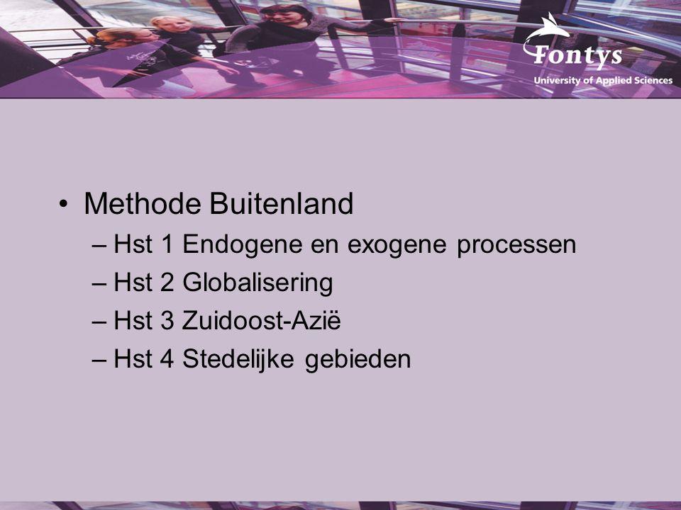 Methode Buitenland Hst 1 Endogene en exogene processen