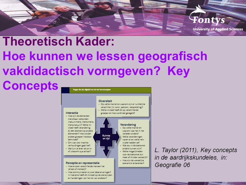 Theoretisch Kader: Hoe kunnen we lessen geografisch vakdidactisch vormgeven Key Concepts