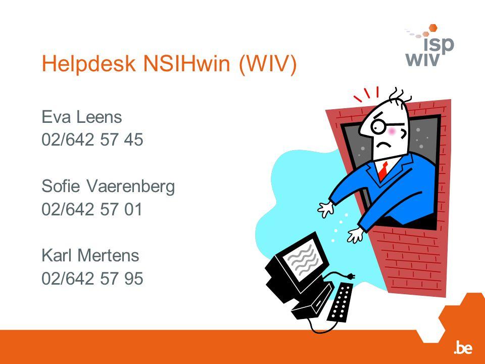 Helpdesk NSIHwin (WIV)