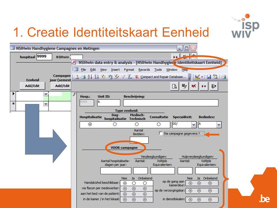 1. Creatie Identiteitskaart Eenheid