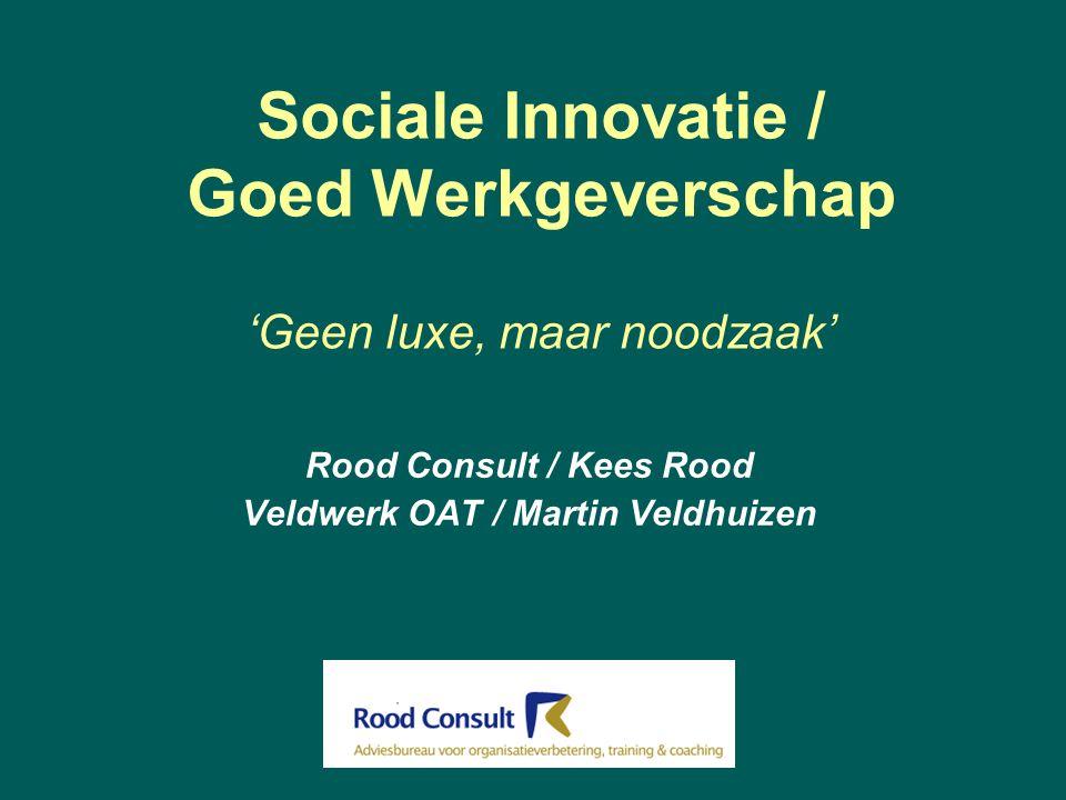 Sociale Innovatie / Goed Werkgeverschap 'Geen luxe, maar noodzaak'