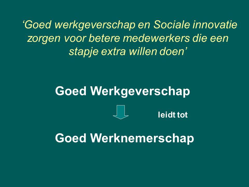 'Goed werkgeverschap en Sociale innovatie zorgen voor betere medewerkers die een stapje extra willen doen'