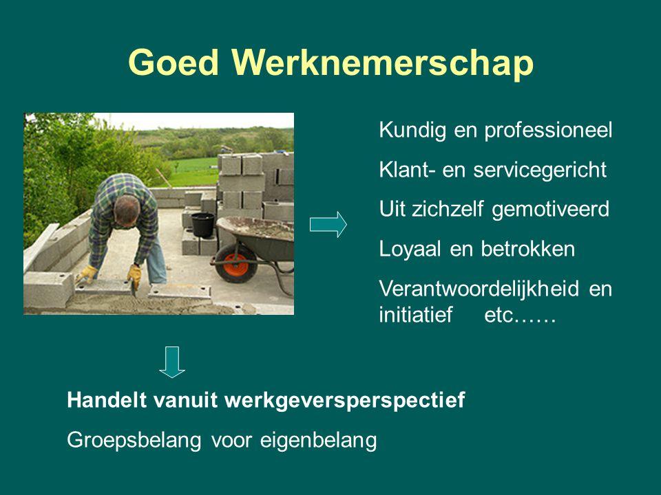 Goed Werknemerschap Kundig en professioneel Klant- en servicegericht
