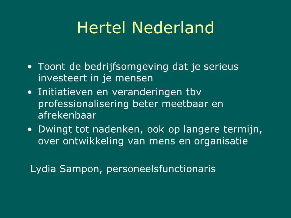 Hertel Nederland Toont de bedrijfsomgeving dat je serieus investeert in je mensen.