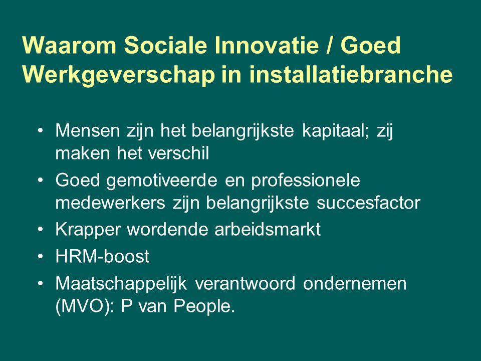 Waarom Sociale Innovatie / Goed Werkgeverschap in installatiebranche