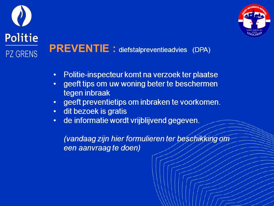PREVENTIE : diefstalpreventieadvies (DPA)