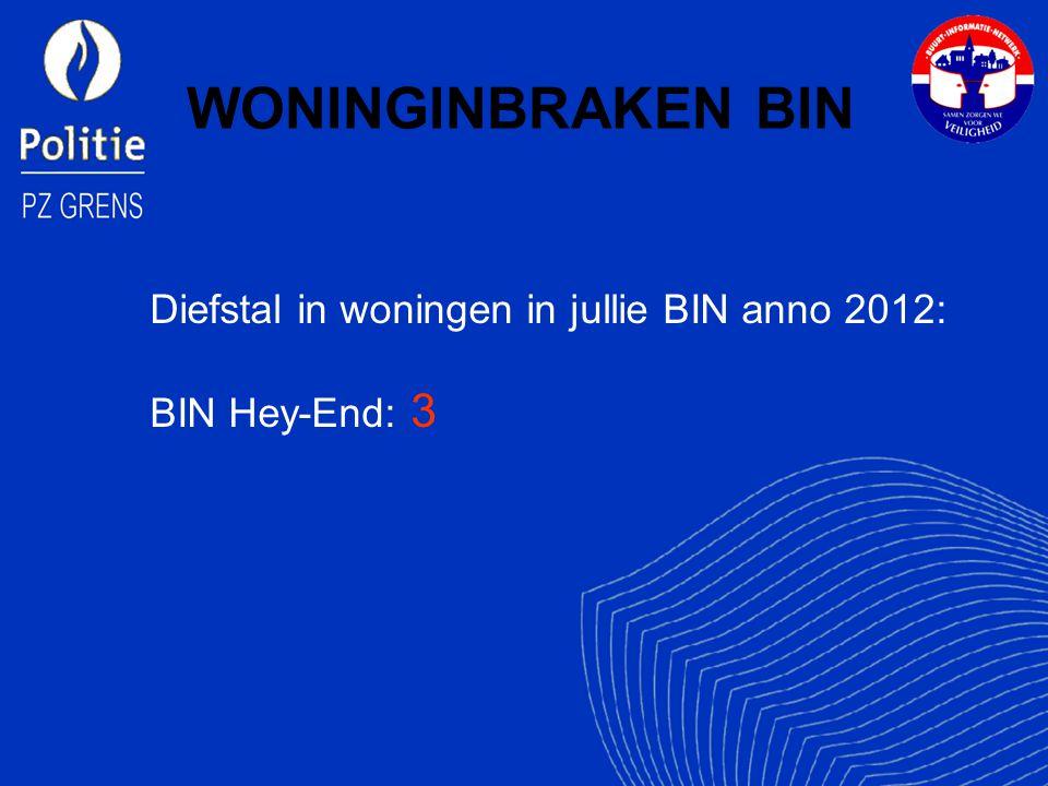 WONINGINBRAKEN BIN Diefstal in woningen in jullie BIN anno 2012:
