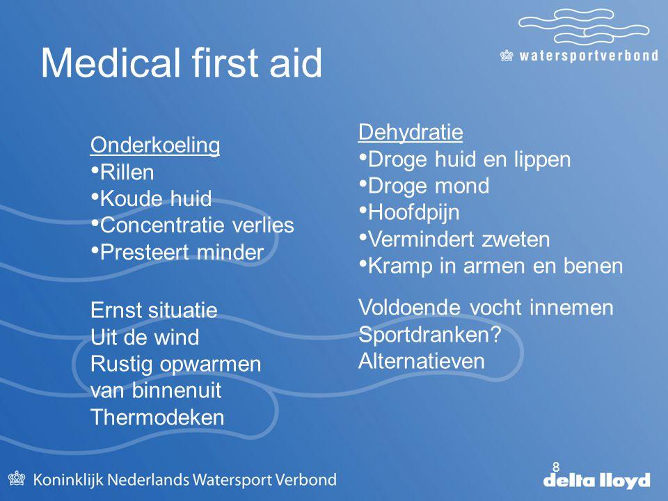 Medical first aid Dehydratie Droge huid en lippen Droge mond Hoofdpijn