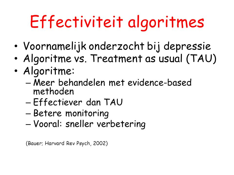 Effectiviteit algoritmes