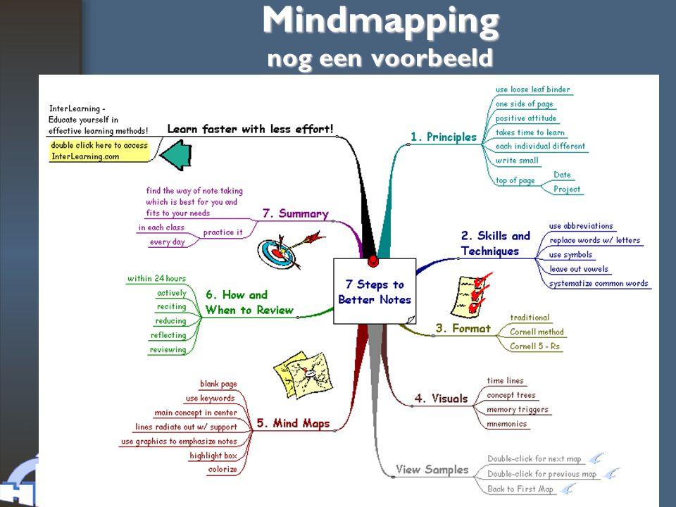 Mindmapping nog een voorbeeld