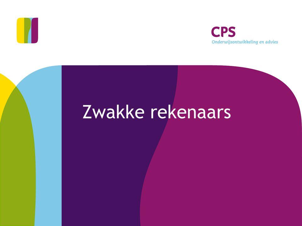 Zwakke rekenaars © CPS Onderwijsontwikkeling en advies