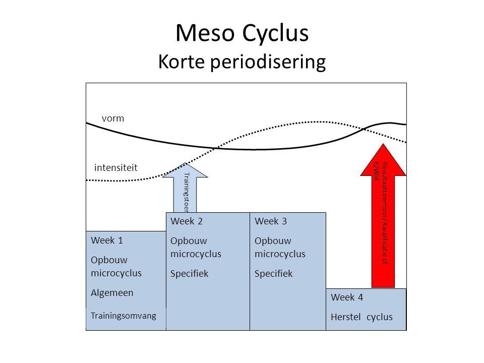 Meso Cyclus Korte periodisering